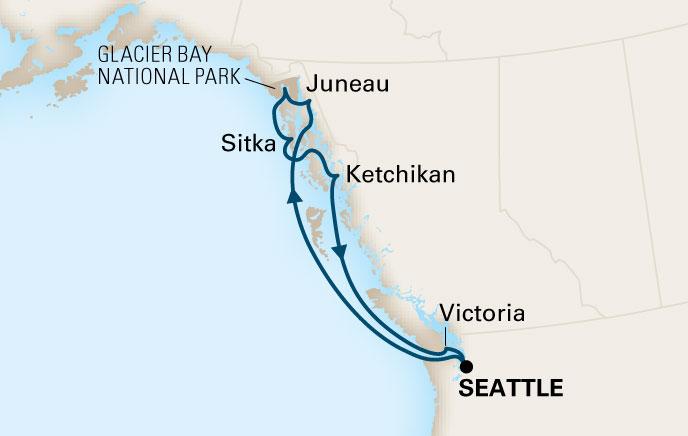 Interactive Map Of Alaska.Topics In Anesthesia Alaska Explorer Via Glacier Bay Cruise June